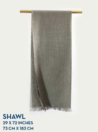 SILVER HOLLAND & SHERRY HARMONY COLLECTION SHAWL