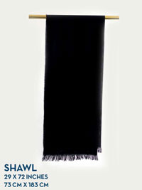BLACK HOLLAND & SHERRY HARMONY COLLECTION SHAWL
