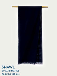 NAVY HOLLAND & SHERRY HARMONY COLLECTION SHAWL