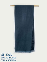 DENIM HOLLAND & SHERRY HARMONY COLLECTION SHAWL