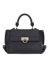 Ferragamo                                                                                                                                                                                                                                                 , Ferragamo GRAND PRIX MEDIUM TOP HANDLE SATCHEL