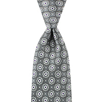 Neckwear-100% Silk - Grey