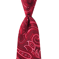 Neckwear-100% Silk - Red