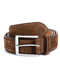 MEDIUM BROWN ToBoot Leather Belt
