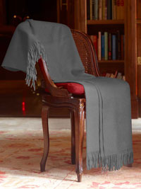 GRAY Luxury Pure Cashmere Throw