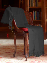 CHARCOAL Luxury Pure Cashmere Throw