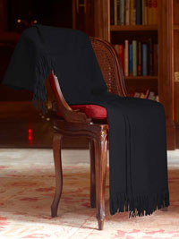 BLACK Luxury Pure Cashmere Throw
