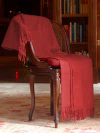 SCARLET Luxury Pure Cashmere Throw