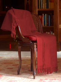 CRIMSON Luxury Pure Cashmere Throw