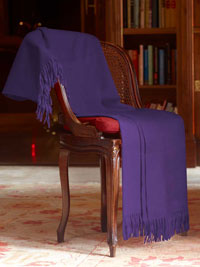 PURPLE Luxury Pure Cashmere Throw