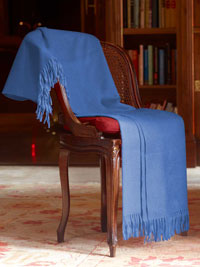 BLUE Luxury Pure Cashmere Throw