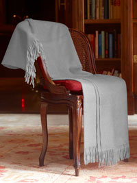 SILVER Luxury Pure Cashmere Throw