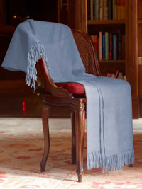 POWDER BLUE Luxury Pure Cashmere Throw