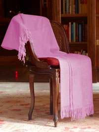 PINK Luxury Pure Cashmere Throw
