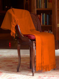 ORANGE                         Luxury Pure Cashmere Throw