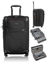 BLACK TUMI International Expandable 4 Wheeled Carry-On