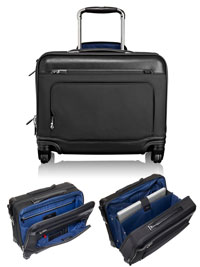 BLACK TUMI McAllen Wheeled Laptop Brief with Laptop Insert