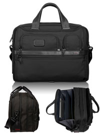 BLACK TUMI Expandable Organizer Computer Brief