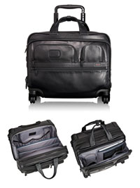 BLACK TUMI 4 Wheel Deluxe Laptop Brief