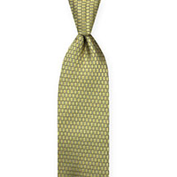 Tie-Gold Woven Geometric