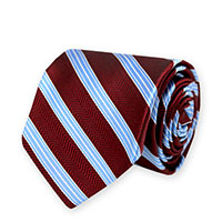 Tie-Red HBone Stripe