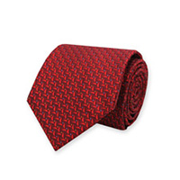 Tie-Red Woven Neat