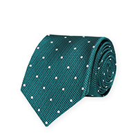 Tie-Teal Woven Dot