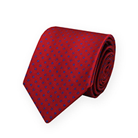 Tie-Red Woven Micro Neat