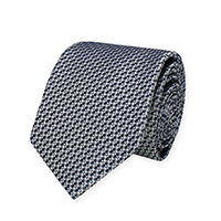 Tie-Silver Woven Solid