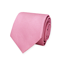 Tie-Pink Woven Text Solid