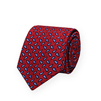 Tie-Red Woven Pine