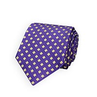 Tie-Lavender Woven Neat