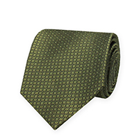 Tie-Olive Woven Neat
