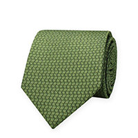 Tie-Green Woven Solid