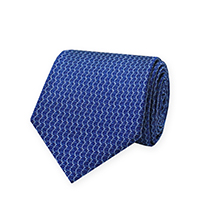 Tie-Blue Woven Tone Solid