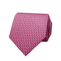 Tie-Pink Woven Tone Solid